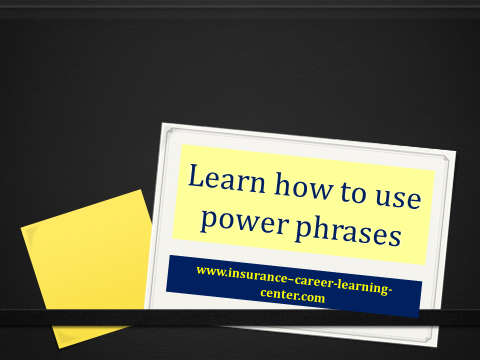 Learning how to use power phrases is a powerful sales tool. Used properly it can turn a prospect into a client.