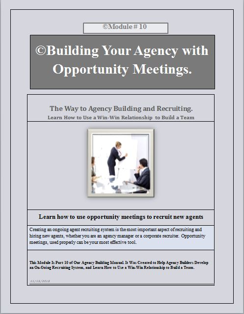 Recruiting by using opportunity meetings