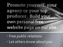 Compliments of our website, you can now build your own free personalized public relations page on our website.